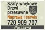 Naprawa szaf wnękowych, drzwi przesuwnych Warszawa - Komandor, Senator